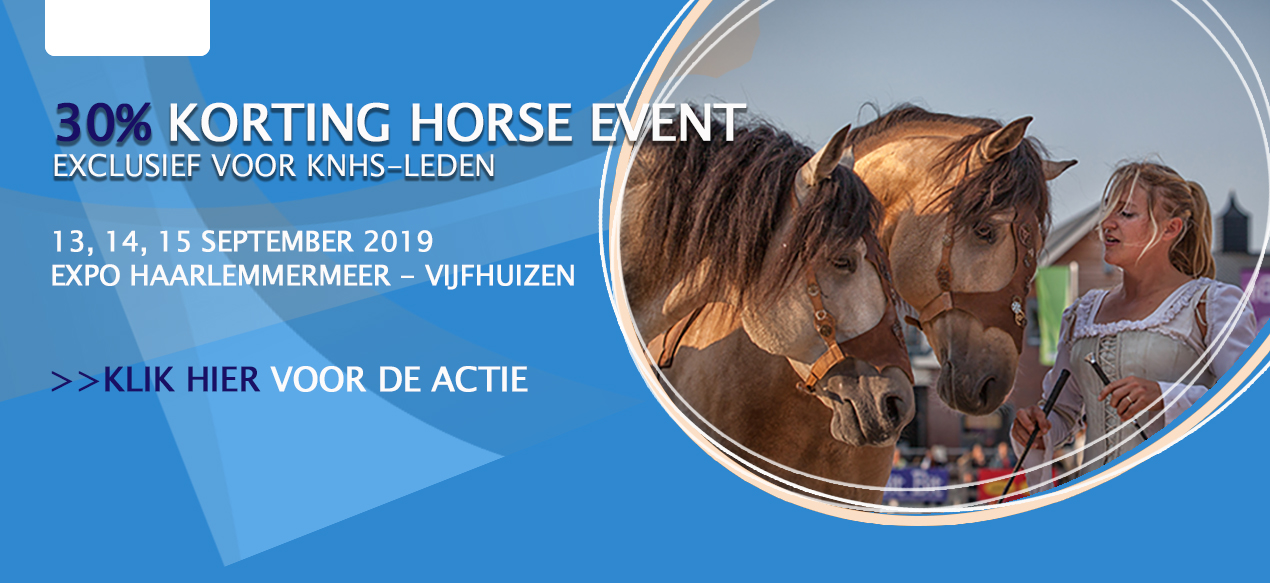Horse Event 2019 - 30% korting