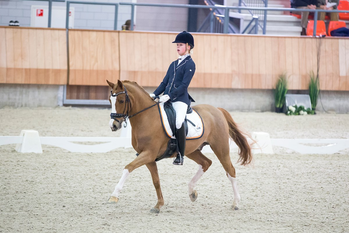 Brandy Bos in A-kader dressuur  pony's