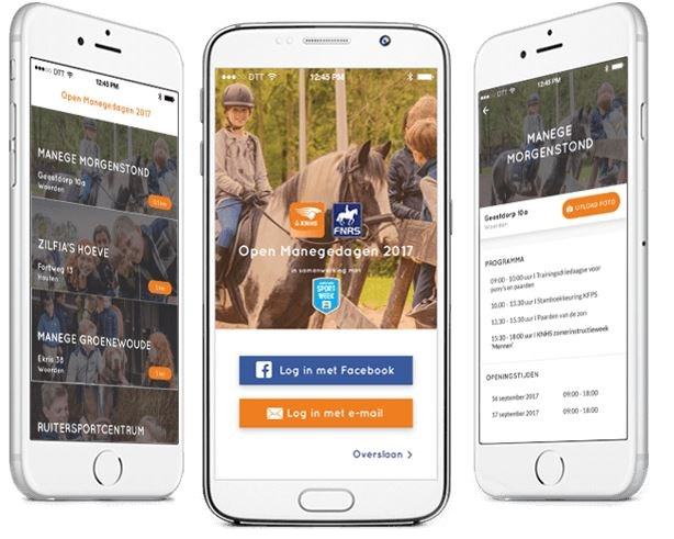 Download de gratis Open Manegedagen app!