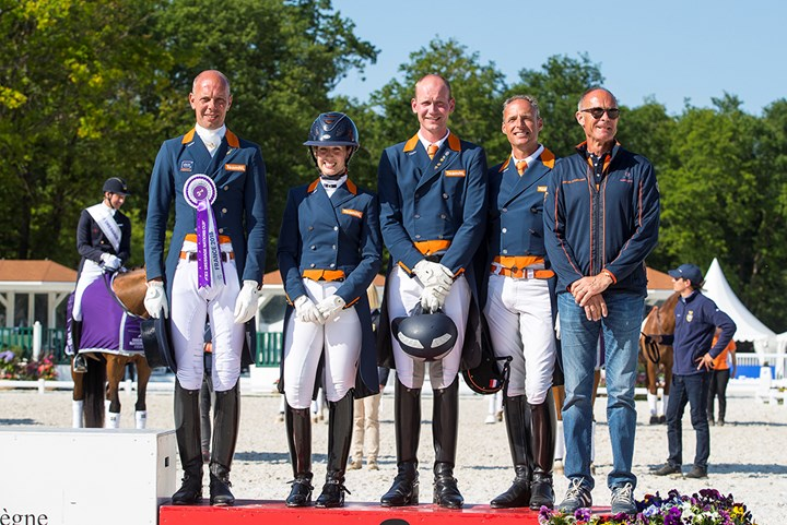 Nederlands dressuurteam derde in Nations Cup Compiègne *Update