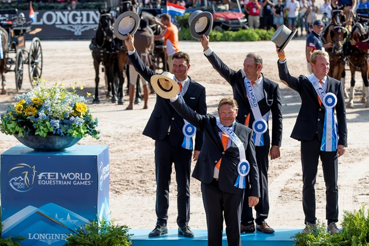 Tryon 2018: Vierspanteam wint zilver