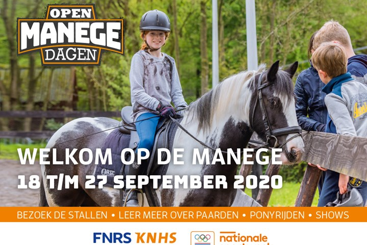 Open Manegedagen van 18 t/m 27 september 2020