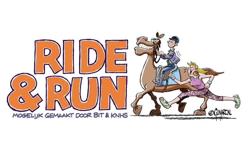 Ride & Run een nieuw evenement waar paardrijden en hardlopen samenkomen