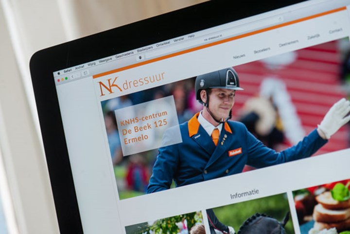 Website NK Dressuur 2015 online